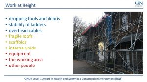 Level 1 Health and Saefty in a Construction Environment (RQF)